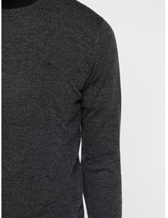 Mens Lyle Sweater Black Melange