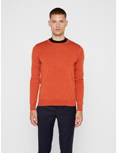 Mens Lyle Sweater Dark Orange