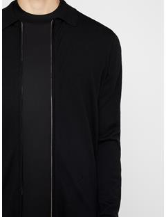 Mens Nyle Zip Cardigan Black