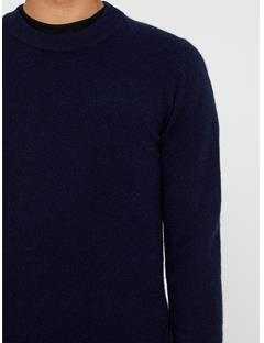 Mens Light Cashmere Sweater JL Navy
