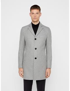 Mens Wolger Compact Melton Coat Light Grey Melange