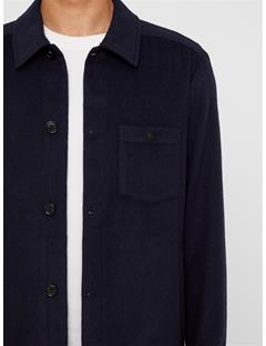 Mens Dolph Wool Overshirt JL Navy