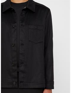 Mens Dolph Cashmere Overshirt Black