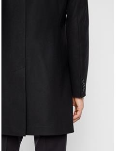 Mens Holger Compact Melton Coat Black
