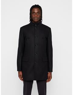 Mens Kali Compact Melton Coat Black