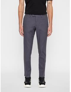 Mens Grant Micro Texture Pants Dark Grey