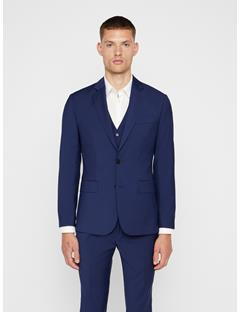 Mens Hopper Comfort Wool Blazer Mid Blue