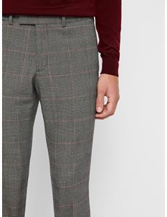 Mens Grant Checkered Pants Racing Red