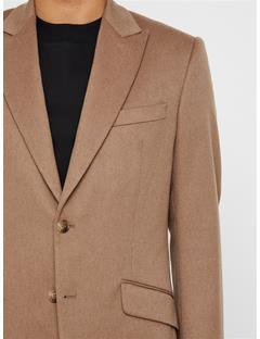 Mens Bob Camel Wool Blazer Oxford Tan