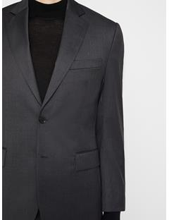 Mens Donnie Legend Wool Blazer Dark Grey Melange