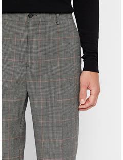 Mens Dropper Checkered Pants Racing Red