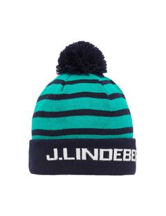 Mens Striped Golf Beanie JL Navy