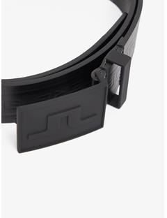 Mens Logo Pro Leather Belt Black