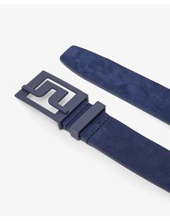 Mens Slater 40 Brushed Leather Belt JL Navy