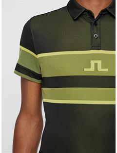 Mens Cole TX Jacquard Polo Banging Yellow