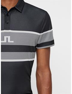 Mens Cole TX Jacquard Polo Black