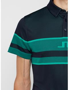 Mens Cole TX Jacquard Polo JL Navy