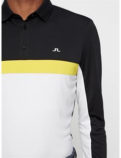 Mens Ethan TX Jersey+ Polo Black