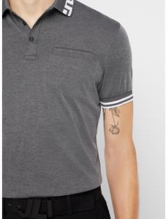 Mens Bruce Cotton Poly Polo Dark Grey Melange