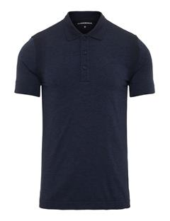 Mens Isaac Seamless Polo Navy Melange