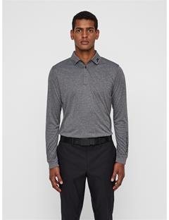 Mens Tour Tech Long Sleeve Polo Dark Grey Melange
