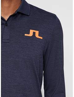 Mens Big Bridge TX Brushed Polo Navy Melange