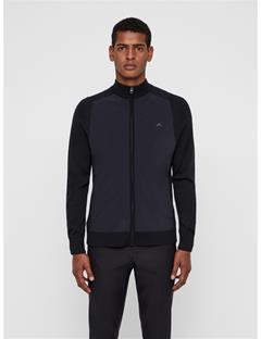 Mens Knitted Hybrid Jacket Black