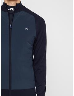 Mens Knitted Hybrid Jacket JL Navy