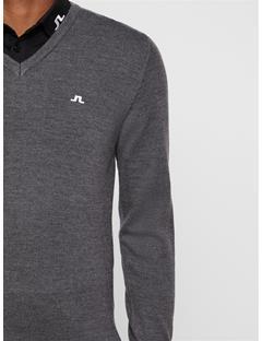 Mens Lymann Tour Merino Sweater Dark Grey Melange