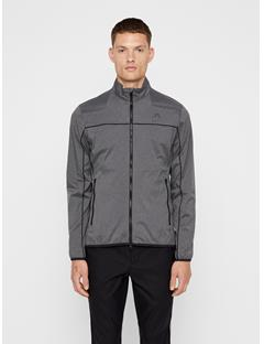 Mens Liam Piped Wind Pro Jacket Dark Grey Melange