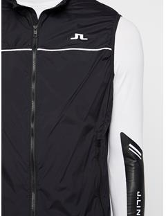 Mens Luke Piped Wind Pro Vest Black