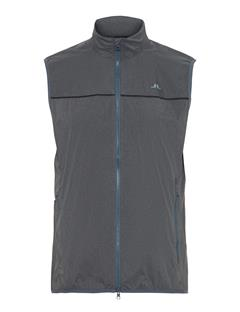 Mens Luke Piped Wind Pro Vest Dark Grey Melange