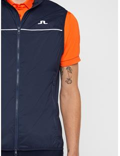 Mens Luke Piped Wind Pro Vest JL Navy