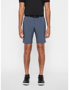 Mens Eloy Tapered Micro Stretch Shorts Dark Grey