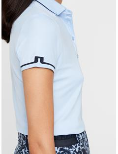 Womens Leana Lux Pique Polo Baby Whisper
