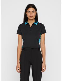 Womens Poppy TX Jersey Polo Black