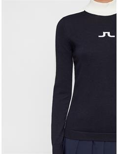 Womens Adia Wool Coolmax Sweater JL Navy