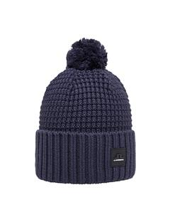Mens Ball Wool Hat JL Navy