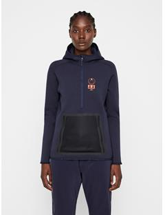 Womens Bute Tech Sweat Hoodie JL Navy