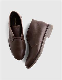 Mens Chukka Boot Fancy Grain Dk Brown