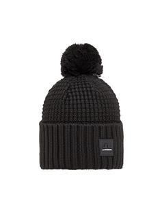 Mens Ball Wool Hat Black