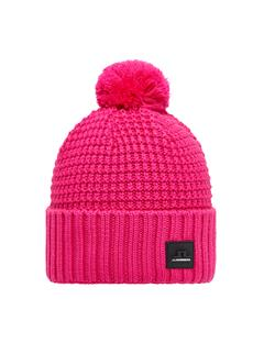 Mens Ball Wool Hat Hot Pink