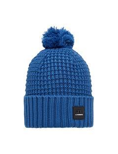 Mens Ball Wool Hat Pop Blue