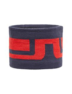 Mens Bridge Striped Wool Headband JL Navy