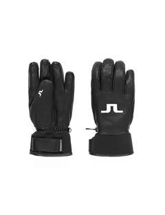 Mens Bridge Leather Gloves Black