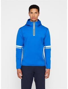 Mens Logo Tech Sweat Hoodie Pop Blue