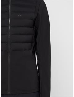 Mens Vertex Hooded Hybrid Down Jacket Black