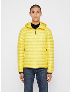 Mens Hooded Light Down Jacket Banging Yellow