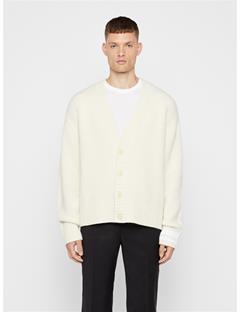 Mens Wool Cardigan Cloud White