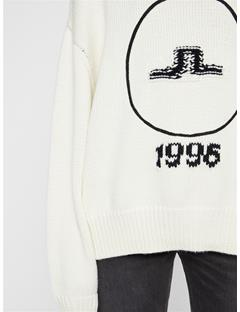 Womens Arrowbridge Wool Coolmax Sweater Cloud White